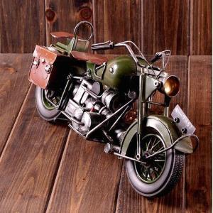 レトロ ヴィンテージ バイク ハーレー モチーフ 置物 デザイン インテリア KZ-A41-M20 予約|kasimaw