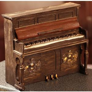 ピアノ 型 置き物 デザイン 雑貨 おしゃれ インテリア かわいい レトロ アンティーク 手作り 工芸品 プレゼント KZ-E25-22228 予約|kasimaw
