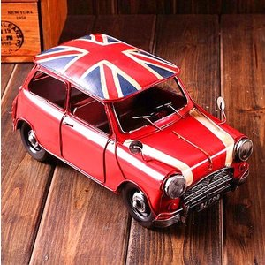 ユニオンジャック モチーフ 置物 レトロ ヴィンテージ デザイン インテリア 車 ブリキ 風 ビートル イギリス 国旗 KZ-A40-J66 予約|kasimaw