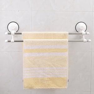 吸盤式 強力 2段式タオル掛け ハンガー 吸着 洗面台 風呂場 KZ-RACK021 即納|kasimaw