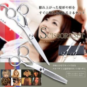 散髪 はさみ カット スキバサミ 2本セット KZ-BIG-VSN 即納|kasimaw
