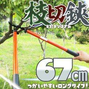 枝切り鋏 ロングタイプ 67cm 軽量 KZ-EDAKIRI67 即納|kasimaw