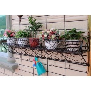 ガーデニング用品 便利 壁面 取付 鉄 製 ラック プランター 4 壁掛け 花 植物 KZ-NIWA06 予約|kasimaw