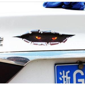 車用ステッカー ホラー 覗く怪物  悪魔エンブレム 天使 デビルちゃん 予約|kasimaw