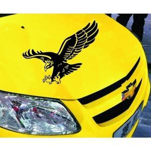 車用ステッカー Hunting Hawk 鷹 黒  悪魔エンブレム 天使 デビルちゃん|kasimaw