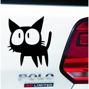 車用ステッカー 魔女の猫 黒  悪魔エンブレム 天使 デビルちゃん 即納|kasimaw