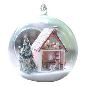 クリスマス 手作り ミニチュア DIY ドールハウス 3階建て ログハウス Bタイプ KZ-G010 即納|kasimaw