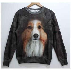 アート シャツ 長袖 犬 ドッグ Lサイズ|kasimaw