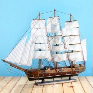 木製工芸品 帆船 78cm  完成品 FD578 予約 kasimaw