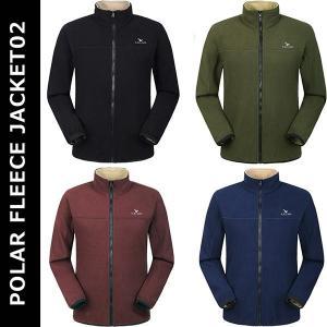 男女兼用 ポーラーフリースジャケット02 メンズ レディース フリース 保温 防風 アウトドア 冬 通勤 ファッション M L X XL 2XL 3XL KZ-JAK6807-F 予約|kasimaw