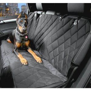 大型  ペット ドライブ シート マット 後部 座席 用 ブラック 汚れ 防止 KZ-MDSH0001 即納|kasimaw