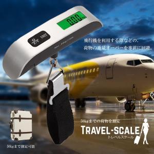 トラベルスケール 50kg 荷物 重量 オーバー 旅行 出張 計測 重さ トランクケース キャリー ベルト式 携帯 簡単 KZI-TRSCALE 即納|kasimaw