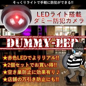 防犯 ダミー カメラ ドーム型 LED ライト 点滅 安全 対策 犯罪 空き巣 2個セット KZ-BOUHANLED 即納|kasimaw
