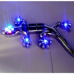 車用ステッカー 8灯式 光センサー 振動センサー LED イルミネーション 発光 ステッカー トカゲライト LEDTOKAGE|kasimaw