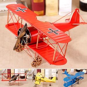 アンティーク風 プロペラ 飛行機 置物 航空機 飾り 雰囲気 インテリア KZ-TY132 予約|kasimaw
