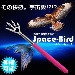 スペースバード 孫の手 痒い 痒み スティック 棒 伸縮 背中 おもしろ 鳥 手 KZ-MAGOTE-3 即納|kasimaw