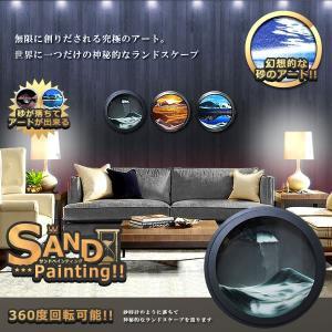 究極アート 壁掛け サンドペインティング02  丸型 砂 360度回転 アート 高級感 インテリア 重厚感 絵画 ピクチャー KZ-SANPAINT02 即納|kasimaw