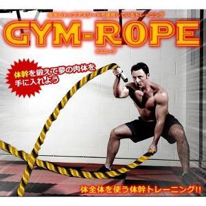 ジムロープ 黄×黒 2サイズ 筋トレ エクササイズ 縄 極太 トレーニング KZ-YEROPE|kasimaw