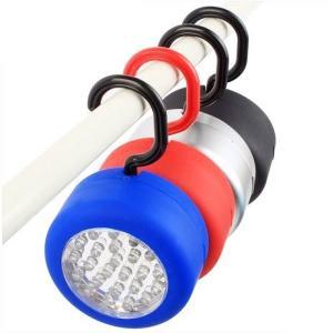屋外 屋内 マグネット 付き キャンプ フック LED ランプ ライト 懐中電灯 2個セット カラー ランダム KZ-S190002 即納 kasimaw