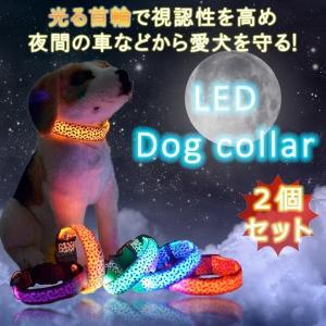 光る首輪 犬 ペット 夜間 散歩 安全 対策 事故防止 視認性 KZ-HIKAKUBI 即納|kasimaw