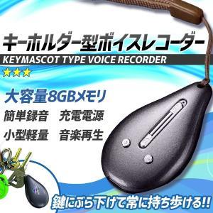 キーホルダー型 ボイスレコーダー ICレコーダー 簡単操作 8GB 軽量 MP3プレイヤー KZ-REC-KEYHOL 予約|kasimaw