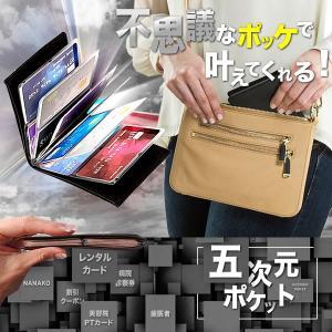 超極薄 五次元ポケット カードケース 不思議なポッケ 24枚 診察券 レンタル ビデオ ナナコ ワオン 整理 大人 おしゃれ KZ-GOZIPOKE 即納|kasimaw