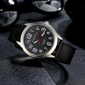 クォーツ時計 メンズ 腕時計 文字盤チェック柄 アラビア数字 (ブラック) KZ-G001 即納|kasimaw
