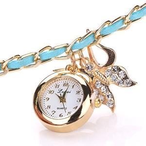 ブレスレット風 レディース 腕時計 クオーツ アナログ KZ-P014 即納 kasimaw