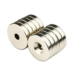強力マグネット N50磁石 丸型皿穴付きマグネット ネオジウム 25*5*5mm 10個セット KZ-NMG-018 kasimaw