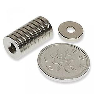 磁石 小型 強力 ネオジム ネオジウム マグネット/丸型皿穴付き 10mm×2mm ネジ穴3mm 30個 KZ-NMG-056 即納|kasimaw