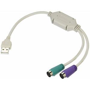 PS/2接続キーボードとマウス → USB 変換アダプタ 日本語/英語キーボード用 KZ-USB-PS2 即納|kasimaw
