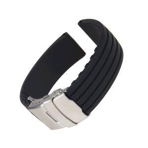 時計バンド 交換ベルトシリコーンゴム 腕時計ストラップ 防水 18mm ブラック KZ-P-SIRIBELL 即納|kasimaw