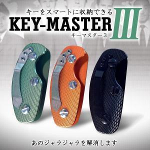 キーマスター3 キーホルダー 収納 鍵 コンパクト 持ち歩き スタイリッシュ 軽量 3色 KZ-K1770 予約|kasimaw