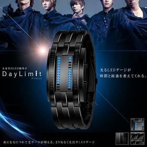 DAYリミット 未来型 LED 腕時計 ゲージ  光る ステンレス ブレスレット 時間 おしゃれ 高級 クロック ウォッチ KZ-DAYLIMIT  予約|kasimaw