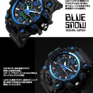 ブルースノウ 腕時計 高級感 デジタル ウォッチ クロック デジタル 防水 スポーツ メンズ BLUESNOW|kasimaw|03
