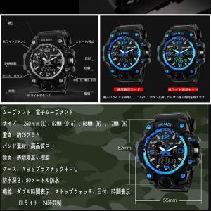 ブルースノウ 腕時計 高級感 デジタル ウォッチ クロック デジタル 防水 スポーツ メンズ BLUESNOW|kasimaw|06