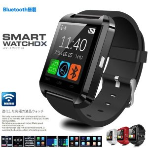 最新式 スマートウォッチ DX Bluetooth smart watch U8  1.44インチ 超薄型フルタッチ 着信通知 置き忘れ防止 歩数計 消費カロリ アラーム 時計 WATCH-144|kasimaw