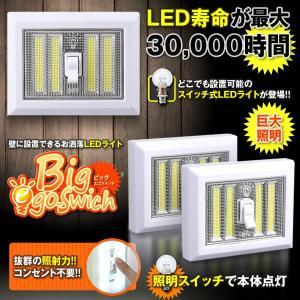 ビッグ EGOスイッチ LED 照明 ライト 壁付け 廊下 階段 明るい おしゃれ コンセント不要 トイレ 洗面所 クローゼット BIGEGOS