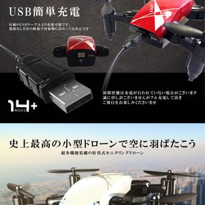 ドローンキング ラジコン 小型 カメラ 折畳式 モニタリング スマホ 遠隔 リモコン 3D飛行 バンパー付属 おしゃれ 高性能 DOROKING 予約|kasimaw|09