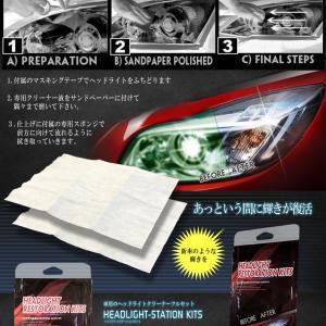 車用 ヘッドライト くすみ消し キット フルセット メンテナンス 洗浄 ワックス 外装 新車 簡単 便利 アイテム KUSUKIT kasimaw 04