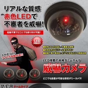 威嚇 ダミーカメラ LED センサーライト 防犯 配線不要 壁掛け 天井 簡単 抑止力 低コスト セキュリティ ドーム型 IKADAMICAM|kasimaw|02