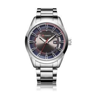 CURREN 腕時計 メンズ カジュアル おしゃれ アナログ表示 日付表示 30M防水 ステンレスバンド クォーツ シルバー|kasimaw