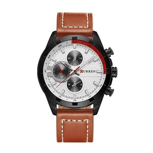CURREN 腕時計 メンズ ファッション 三針 アナログ 30M防水 レザーバンド カーキ kasimaw
