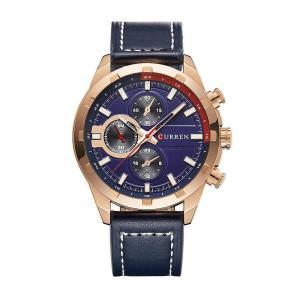 CURREN 腕時計 メンズ ファッション 三針 アナログ 30M防水 レザーバンド ブラック ブラウン|kasimaw