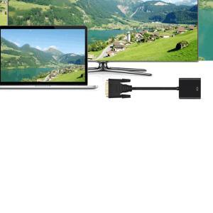 DVI-D 24+1 to VGA d-sub 変換アダプタ オス-メス dvi vga 変換ケーブル HDTV プラズマ DVD プロジェクタ 16cm DTOVADA|kasimaw|05