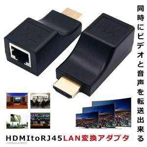HDMI 鮮明アダプタ 延長器 HDMI to RJ45 LAN 変換 HDCP パソコン モニタ 監視カメラ TV テレビ 4K SENMEAD|kasimaw