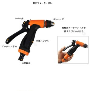 車用高圧洗浄機 12V 車用クリーナー 洗車フォームガン 洗車のパイプ シガーソケット 接続式 SENKURI-12|kasimaw|03