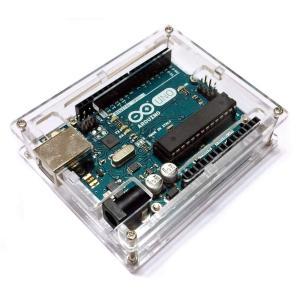 Arduino UNO R3 透明 アクリル エンクロージャー ケース 薄型 コンパクト AUNODYUMA kasimaw