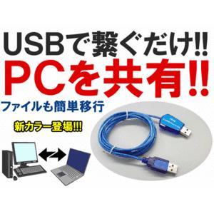 【これぞ神業!!】超簡単→USBに挿すだけでパソコン共有・連結!楽々ファイル転送 シェアリング 引越し Windows用/Mac用◇FS-UKC(バルク品)|kasimaw