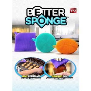 betterspongeクリーニングスポンジDishwashing Silicon mildew-free as seen on TV CLEAN|kasimaw